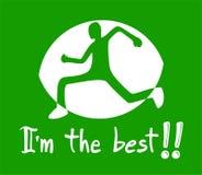 Símbolo do atleta Imagens de Stock Royalty Free