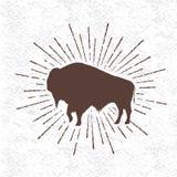 Símbolo do búfalo ilustração royalty free