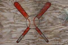 Símbolo do basebol fotografia de stock royalty free
