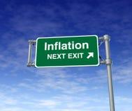 Símbolo do busiiness da ascensão dos preços da economia da inflação Fotos de Stock