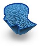 Símbolo do cérebro humano Imagem de Stock