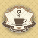 Símbolo do café Imagens de Stock