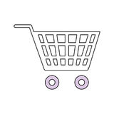 Símbolo do carrinho de compras Imagem de Stock