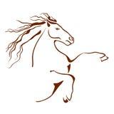 Símbolo do cavalo Ilustração do vetor Fotos de Stock