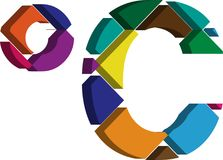 símbolo do celcius 3d Imagem de Stock Royalty Free
