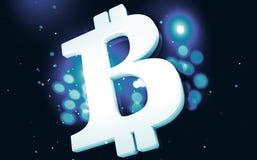 Símbolo do close up do cryptocurrency de Bitcoin ilustração do vetor