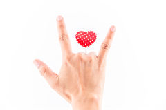 Símbolo do conceito do amor Fotografia de Stock