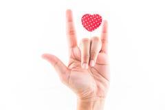 Símbolo do conceito do amor Imagem de Stock
