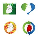 Símbolo do coração Ícone do órgão humano ilustração royalty free