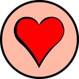 Símbolo do coração Imagens de Stock