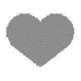 Símbolo do coração com um teste padrão de ponto Ícone do vetor no fundo branco Imagem de Stock Royalty Free