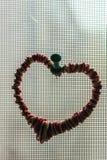 Símbolo do coração na tela fotografia de stock