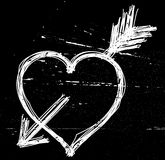 Símbolo do coração no preto. Imagens de Stock Royalty Free