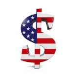Símbolo do dólar americano Imagem de Stock