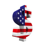 Símbolo do dólar americano Fotografia de Stock