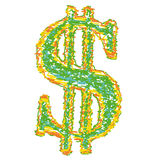Símbolo do dólar americano (vetor) Fotos de Stock