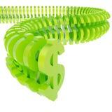 Símbolo do dólar arranjado na linha Imagens de Stock Royalty Free