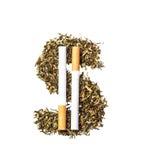 Símbolo do dólar do cigarro Imagem de Stock Royalty Free