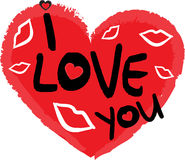 Símbolo do dia dos Valentim do coração foto de stock