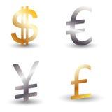 Símbolo do dinheiro Fotos de Stock Royalty Free