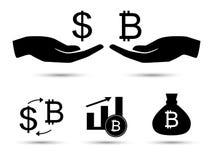 Símbolo do dinheiro do vetor Fotos de Stock Royalty Free