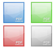 Símbolo do Download do pdf Imagem de Stock