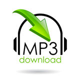Símbolo do download Mp3 Fotografia de Stock Royalty Free