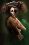 Símbolo do dragão da menina do encanto em 2012 Foto de Stock Royalty Free