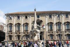 Símbolo do elefante de Catania Sicília imagem de stock