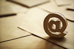Símbolo do email @ Imagens de Stock