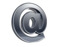 Símbolo do email aliás Fotografia de Stock Royalty Free