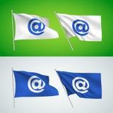 Símbolo do email - bandeiras do vetor Ilustração Royalty Free