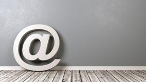 Símbolo do email com Copyspace Foto de Stock