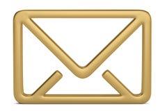 Símbolo do email 3d isolado no fundo branco ilustração 3D ilustração stock
