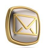 Símbolo do email 3d isolado no fundo branco ilustração 3D ilustração do vetor