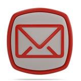 Símbolo do email 3d isolado no fundo branco ilustração 3D ilustração royalty free