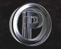 Símbolo do estacionamento no vidro Fotografia de Stock
