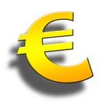 símbolo do euro 3d ilustração do vetor