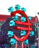 Símbolo do Euro em Francoforte Imagem de Stock Royalty Free