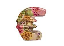 Símbolo do Euro isolado no branco Foto de Stock Royalty Free