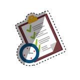 Símbolo do formulário da lista de verificação ilustração royalty free