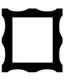Símbolo do frame de retrato Imagens de Stock