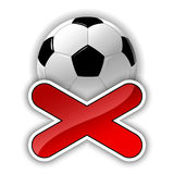 Símbolo do futebol Imagens de Stock