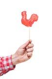 Símbolo do galo novo dos doces de 2017 em um fundo branco Imagem de Stock