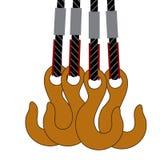 Símbolo do gancho ou da polia do guindaste Fotos de Stock Royalty Free