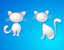 Símbolo do gato - o leite deixa cair o vetor Foto de Stock Royalty Free