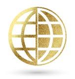 Símbolo do globo imagem de stock royalty free