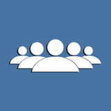 Símbolo do grupo dos povos Ilustração Stock