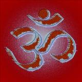 Símbolo do hinduism do OM ou do aum fotografia de stock