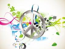Símbolo do Hippie ilustração stock